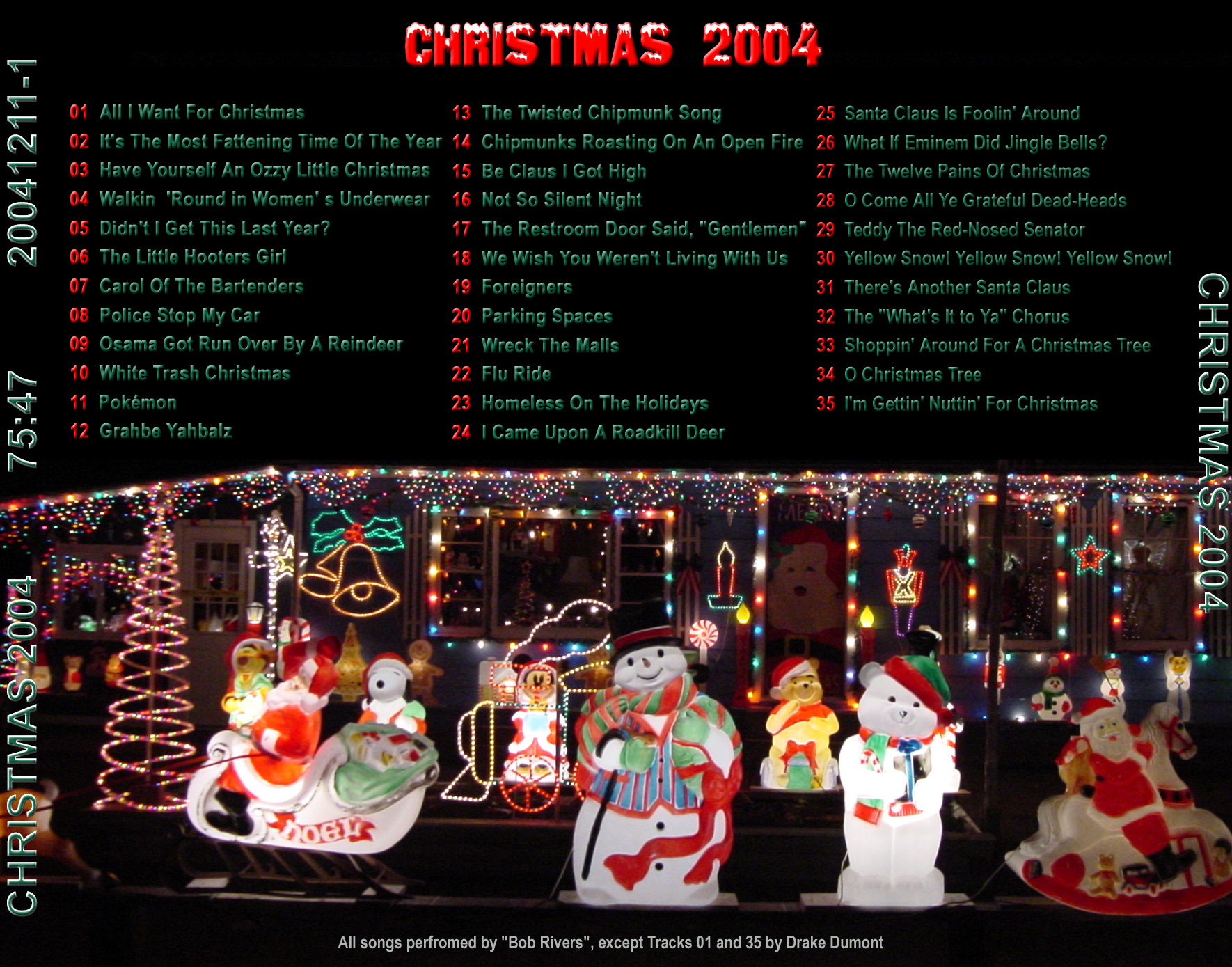 Bob Rivers Twisted Christmas.Julien J Dumont Jr Christmas Cds